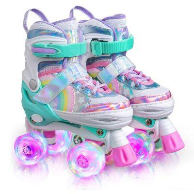 Sulifeel Rainbow Unicorn Roller Skates