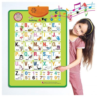 KOSA Interactive Alphabet Wall Chart for Boys and Girls