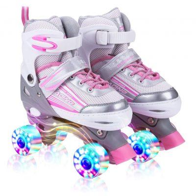 Kuxuan Saya Roller Skates with All Wheels Light up