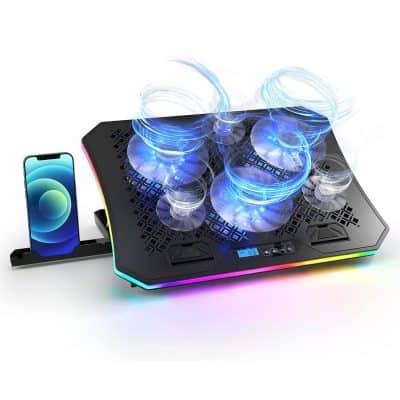 Vencci Laptop Cooler Pad RGB Lights