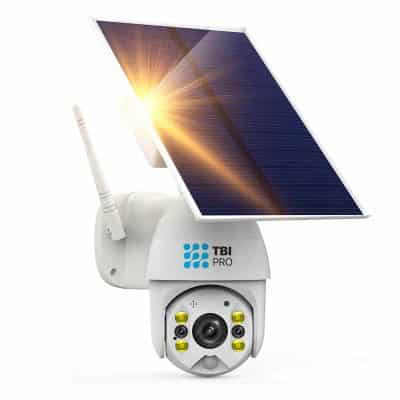 TBI Pro Solar Security Camera Wireless, 2-Way Audio