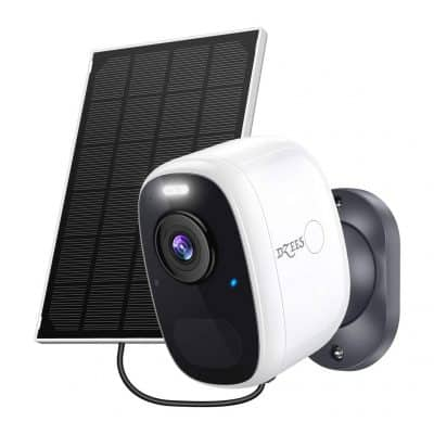 Dzees Outdoor Solar Security Camera with Night Vision