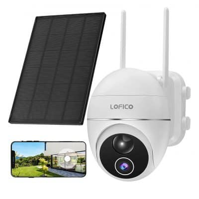 LOFICO Security Camera Outdoor, 15000mAh Rechargeable Battery